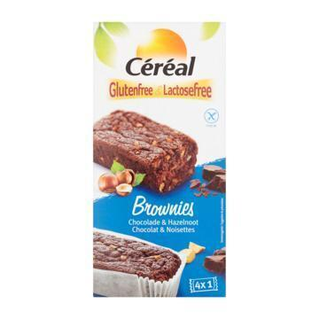 Céréal Glutenfree & Lactosefree Brownies Chocolade & Hazelnoot 4 Stuks 150 g (150g)