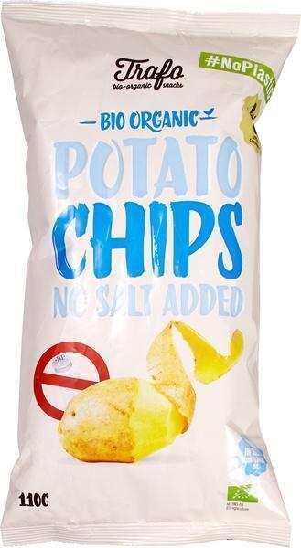 Aardappelchips naturel zonder zout (110g)