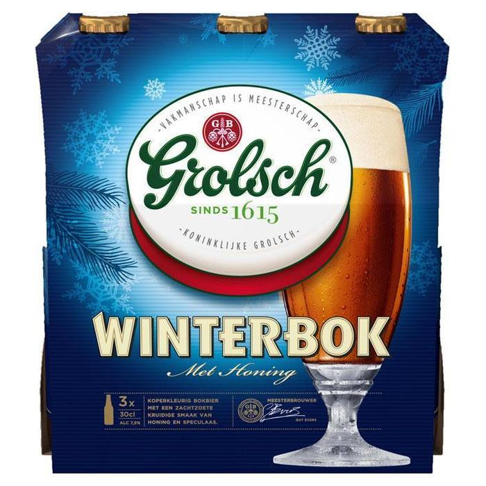 Grolsch Winterbok Speciaalbier (3 x 30cl) multipack (rol, 3 × 30cl)