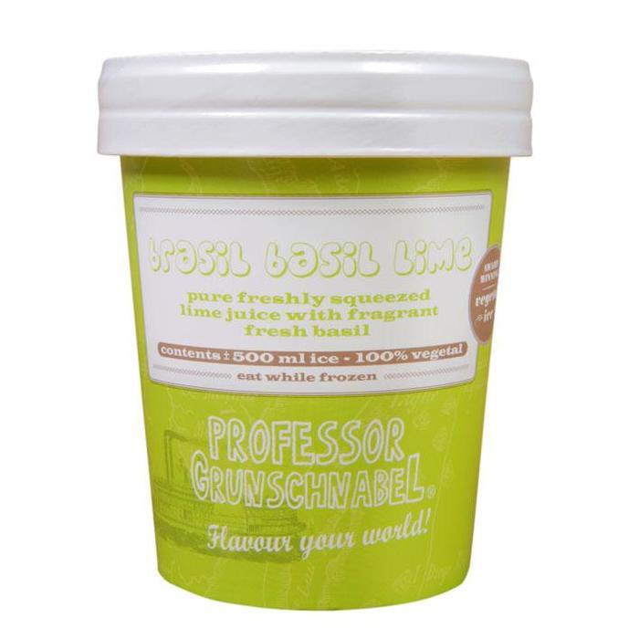 Professor Grunschnabel - Natural Vegetal Ice - Brasil Basil Lime (0.5L)
