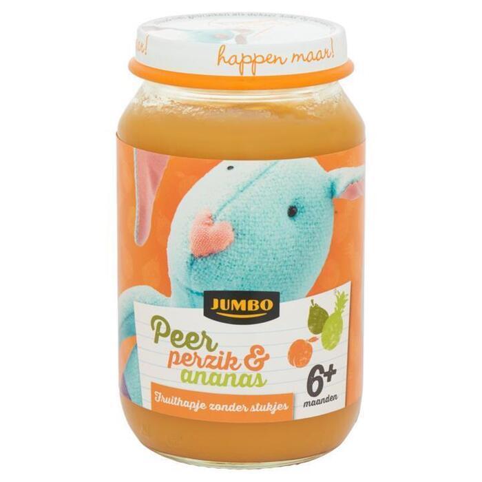 Jumbo Peer Perzik & Ananas 6+ Maanden 200g (200g)