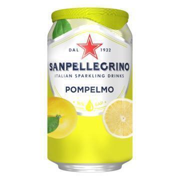 SANPELLEGRINO® Pompelmo Bruisende Vruchtendrank Blikje 33 cl (rol, 33cl)