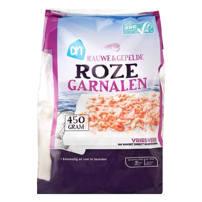 Roze Garnalen rauw & gepeld (zak, 450g)