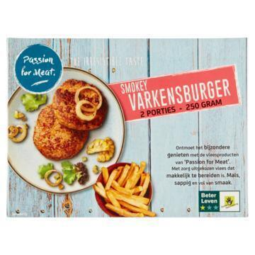 Passion for Meat Smokey Varkensburger 250 g (250g)