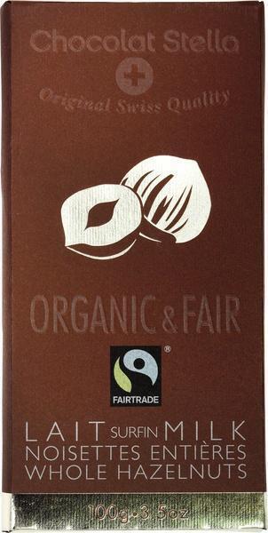 Chocolat Stella Lait surfin Milk Whole Hazelnuts (100g)