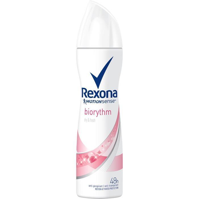 Rexona Deodorant Spray Women Ultra Dry Biorythm 150 ml (Stuk, 150ml)