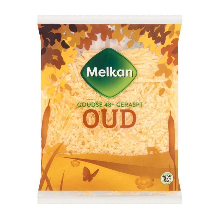 Melkan Oud 48+ geraspte kaas (plastic zak, 175g)