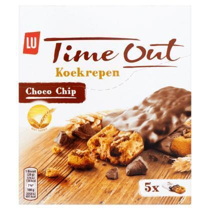 Time Out koekrepen choco chip (Stuk, 140g)