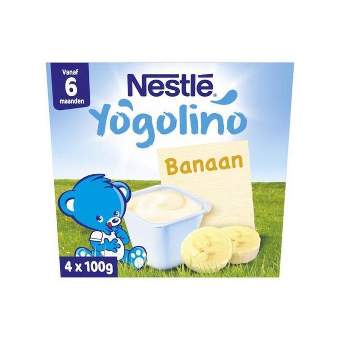 Yogolino Banaan 6 mnd (Stuk, 4 × 400g)