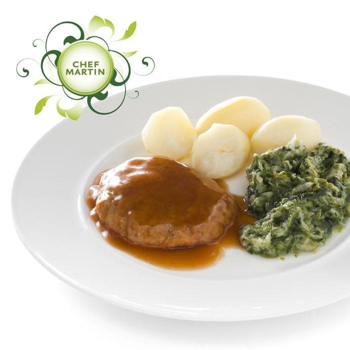 Chef Martin Gehaktschijf in jus andijvie aardappels (565g)