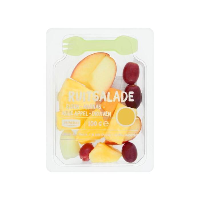 Jumbo Fruitsalade Meloen-Ananas-Rode Appel-Druiven 100g (100g)