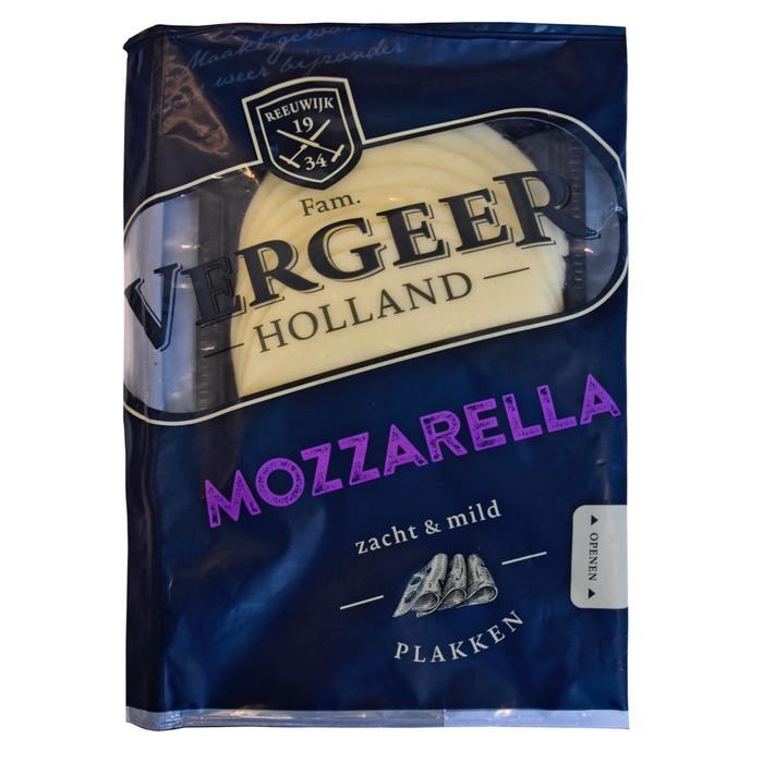Vergeer Holland Kaas 40+ Plakken Mozzarella 175g (175g)