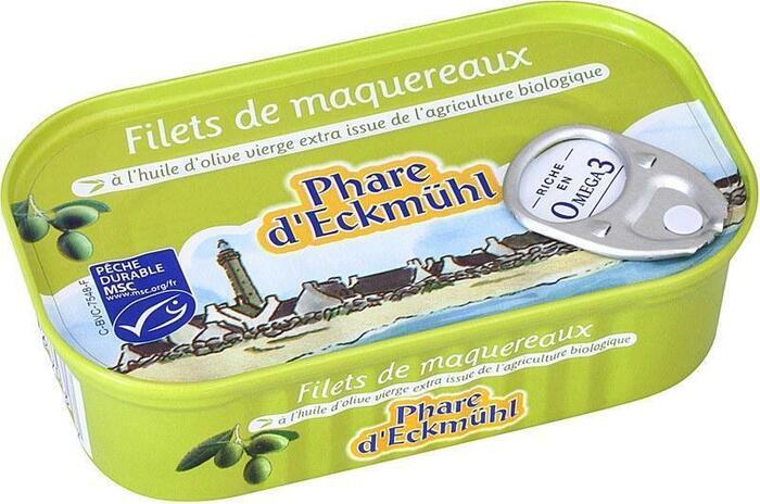 Makreelfilets in extra vergine olijfolie (blik, 118g)