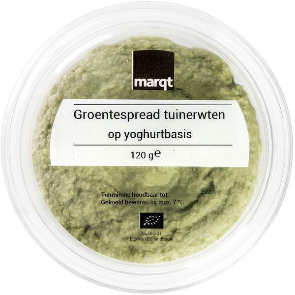 Groentespread tuinerwten op yoghurtbasis (120g)