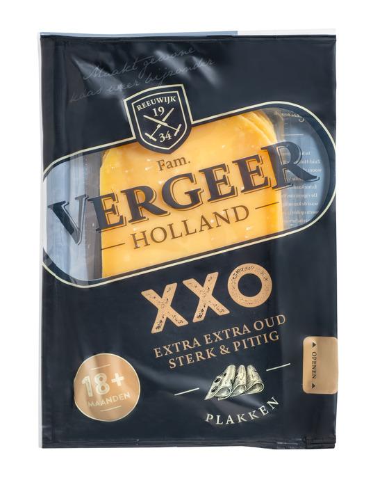 Vergeer Holland Kaas 48+ Plakken Gouda Klappack 175g (150g)