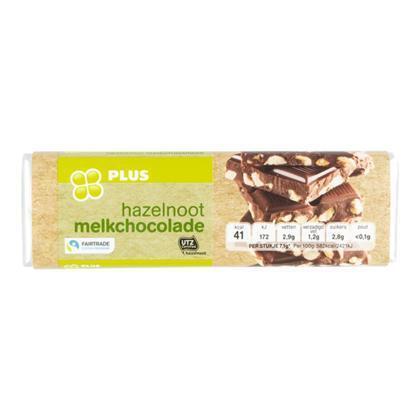 Chocoladereep hazelnoot fairtrade (100g)