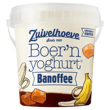 Zuivelhoeve Boer'n yoghurt® Banoffee 800 g (emmer, 800g)