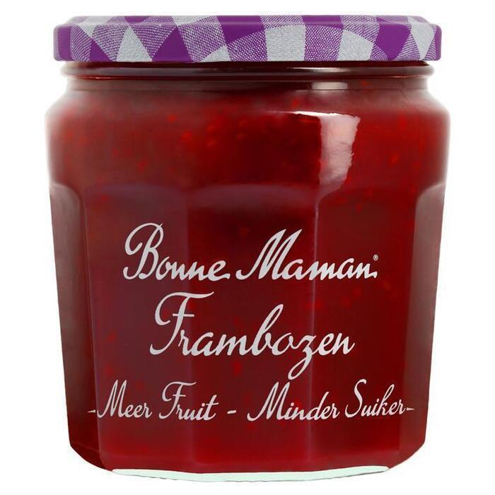 Bonne Maman Meer fruit minder suiker frambozen jam (335g)