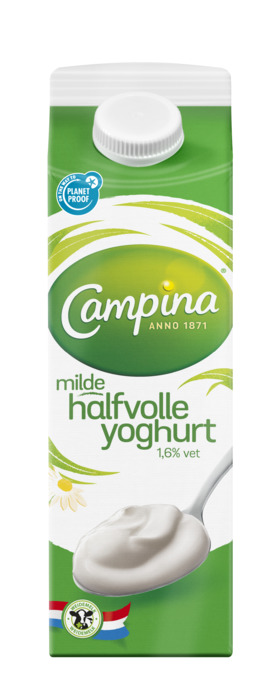 Halfvolle yoghurt (pak, 1L)