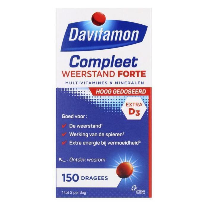 Davitamon Compleet weerstand forte dragees (150 st.)