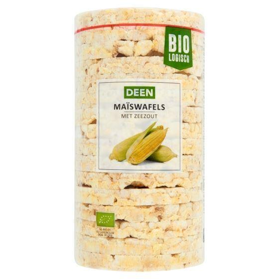 Deen Biologisch maïswafels met zeezout 100 gram (100g)