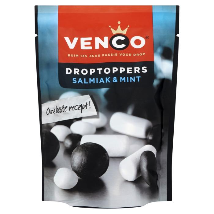 Venco Droptoppers Salmiak & Mint 276 g (276g)