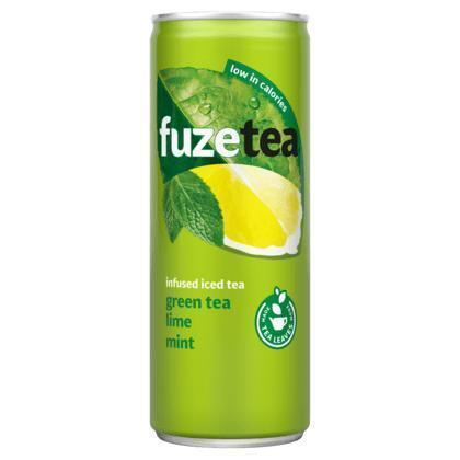 FuzeTea Green Tea Lime Mint Infused Iced Tea 250 ml (rol, 25 × 250ml)