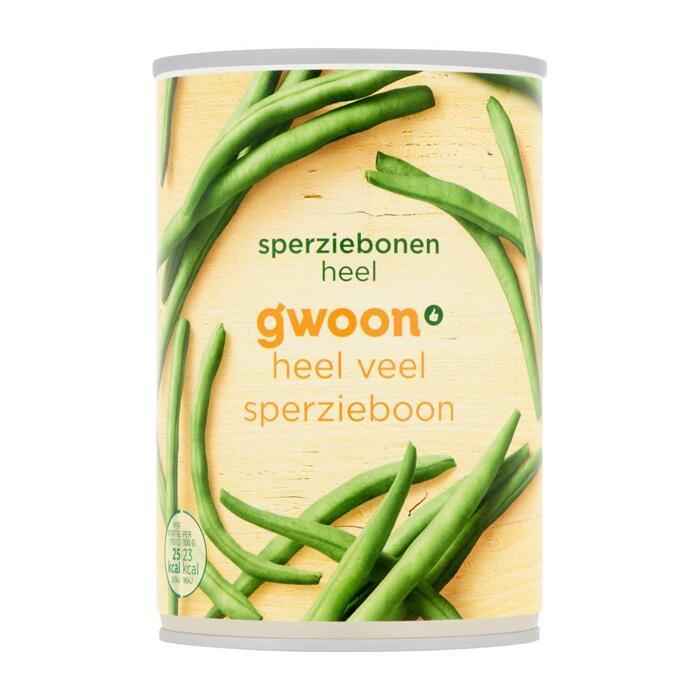 g'woon Sperziebonen heel (400g)