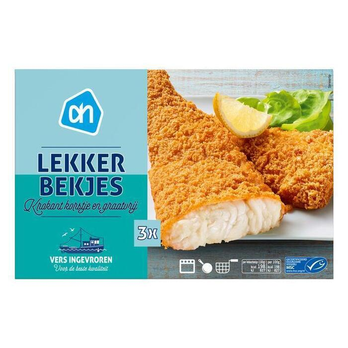 duurzame vis lekkerbekjes, MSC (karton, 3 × 100g)