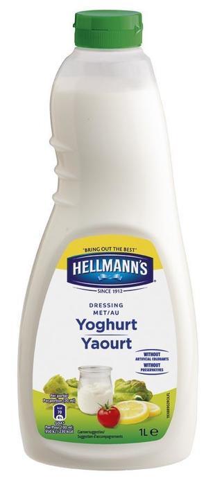 Hellmann's Dressing met Yoghurt (fles, 6 × 1L)