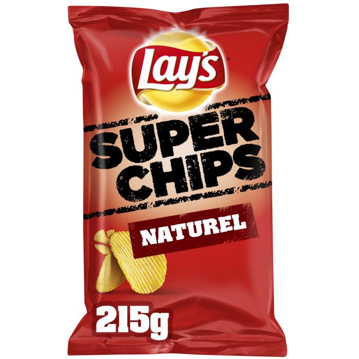 Lay's Superchips naturel (Stuk, 215g)