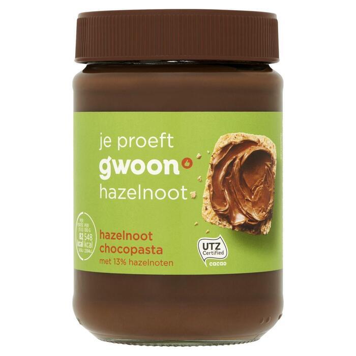 g'woon Hazelnoot Chocopasta 400 g (pot, 400g)