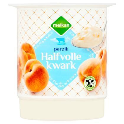 Melkan Perzik Halfvolle Kwark 450 g (450g)