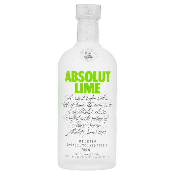 Absolut Lime flavored vodka (rol, 70 × 0.7L)