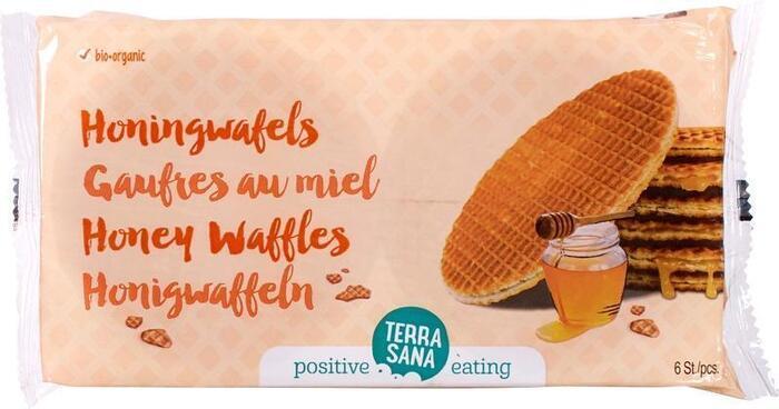 Honingwafels (zonder sojalecithine) TerraSana 175g (175g)