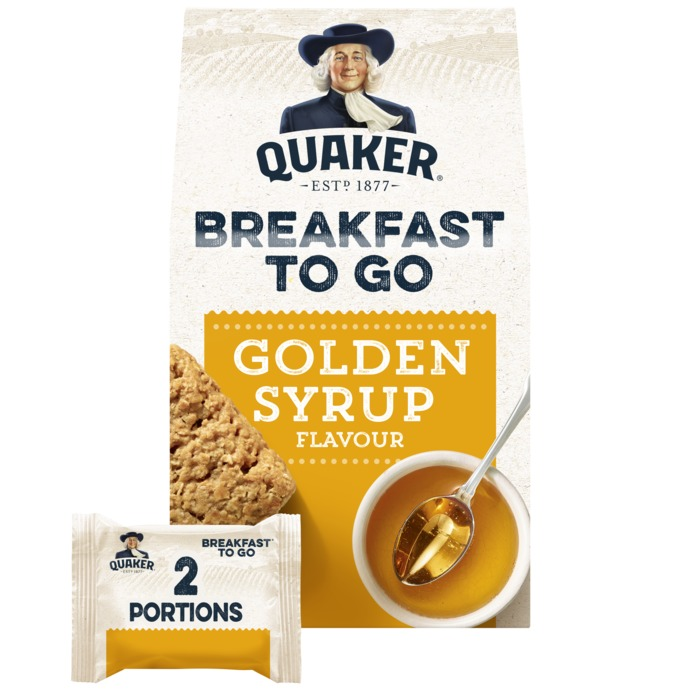 Quaker Havermout to go golden syrup (2 × 110g)