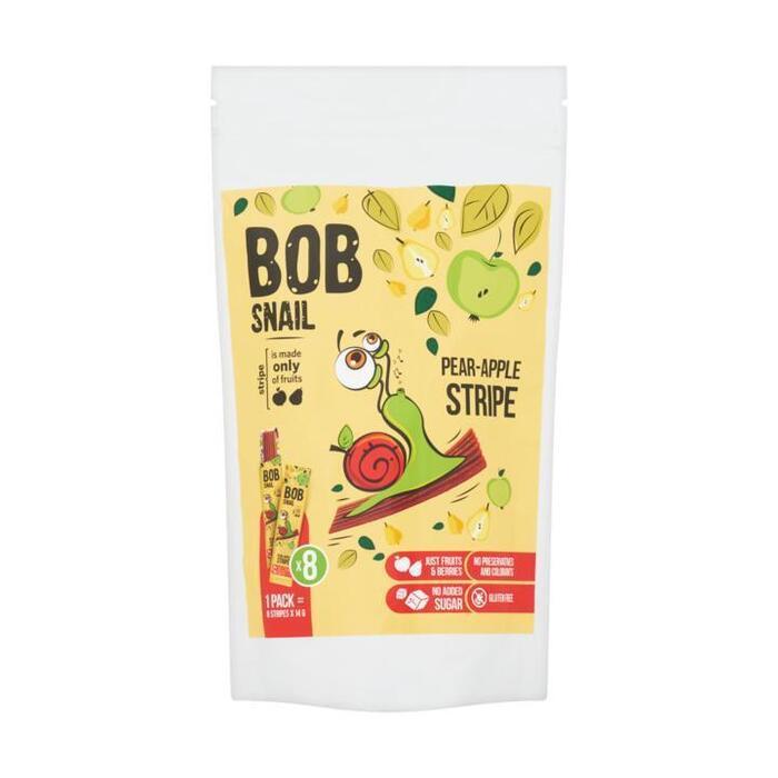 Bob Snail Peer en Appel Fruitstrips 8 x 14 g (8 × 14g)