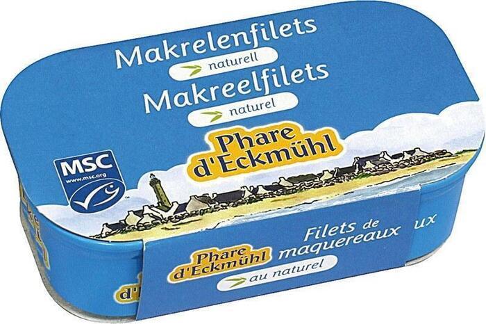 Makreelfilet naturel (blik, 113g)