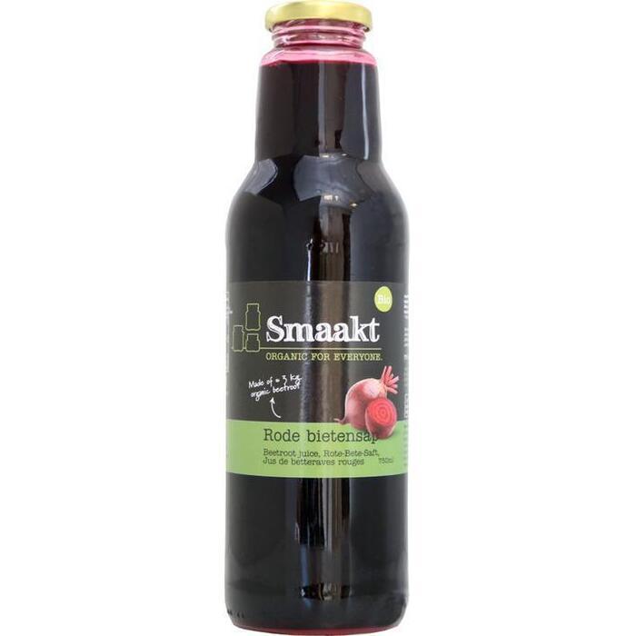 Smaakt Biologisch Rode Bietensap 750 ml (Stuk, 0.75L)
