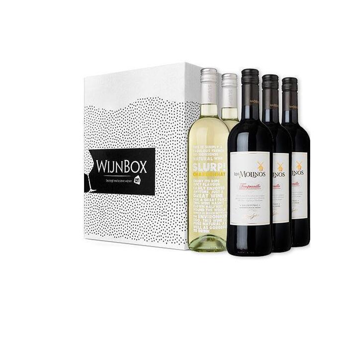 De genoeg voor iedereen wijnbox (6 × 0.75L)