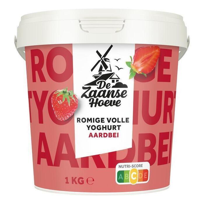 De Zaanse Hoeve Yoghurt aardbei (1kg)