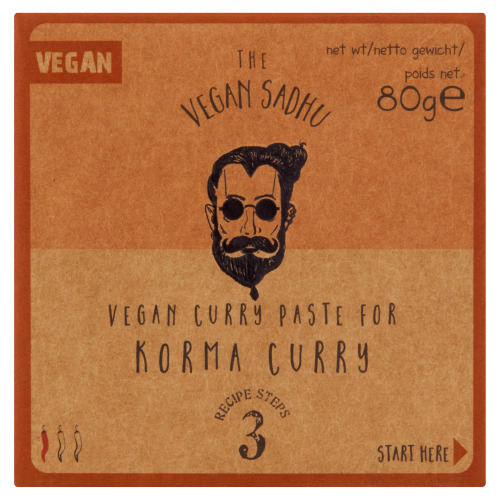 The Vegan Sadhu Vegan Curry Pasta voor Korma Curry 80 g (80g)