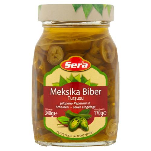 Sera Meksika Biber Pickled Sliced Jalapeno Peppers 340 g (340g)