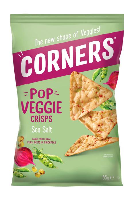 Corners - Veggie Crips - Chickpea, Beetroot and Pea - Sea Salt (85g)