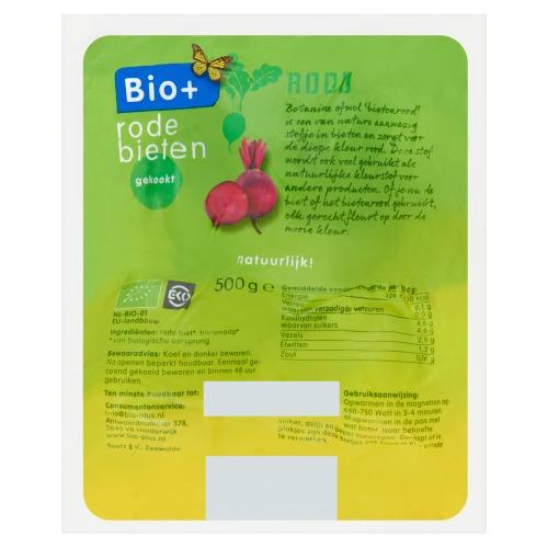 Bio+ gekookte rode bietjes (500g)