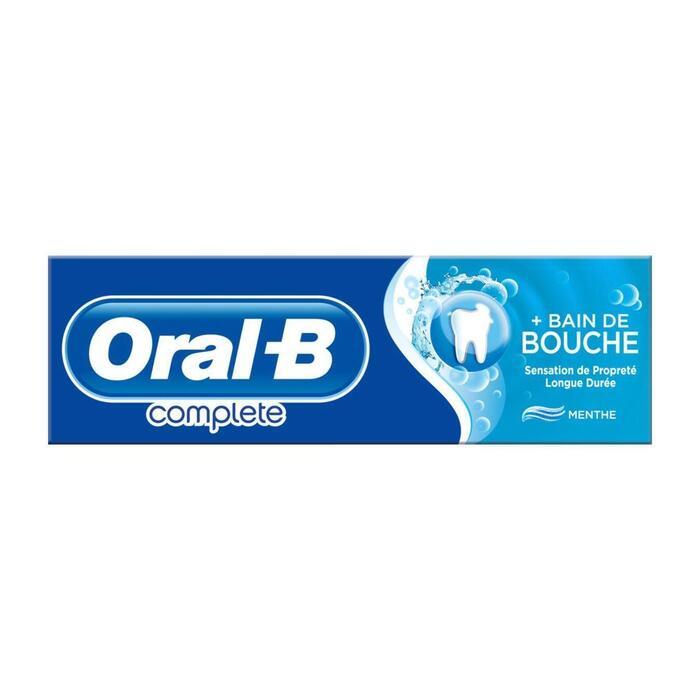 Oral-B Complete Tandpasta+Mondwater Verfrissende Reiniging 75ml (75ml)