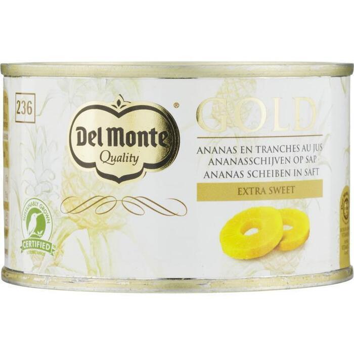Del Monte Gold Ananasschijven op Sap 227g (227g)