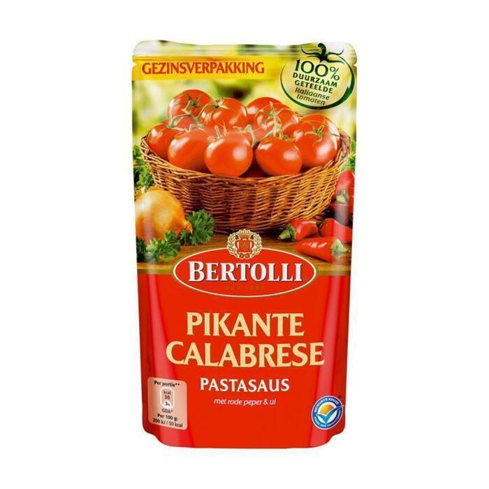 Bertolli Pastasaus In Zak Pikant 4-5 Porties (zak, 600g)