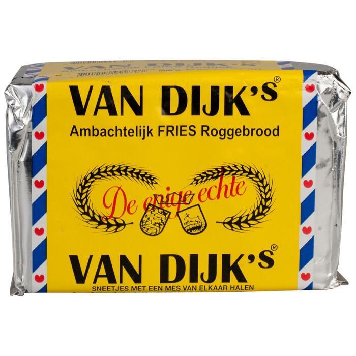 Van Dijk's Ambachtelijk Fries Roggebrood 10 Plakjes (Stuk, 500g)