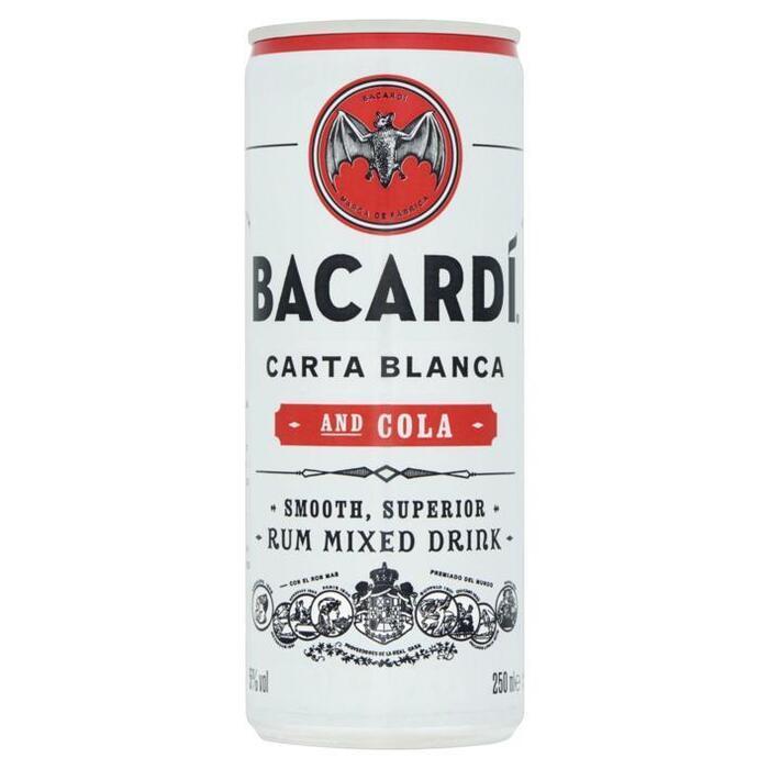 Bacardi Rum & cola (rol, 25 × 250ml)